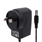 6W系列澳规SAA插墙式带线黑色电源适配器