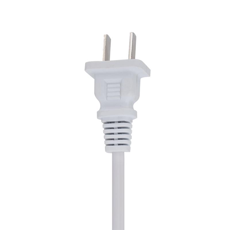 白色国标两插AC电源线