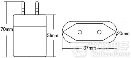 直插式手机充电适配器