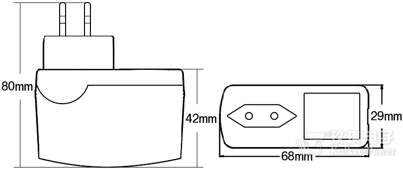 15w系列欧规gs&ce插墙式电源适配器