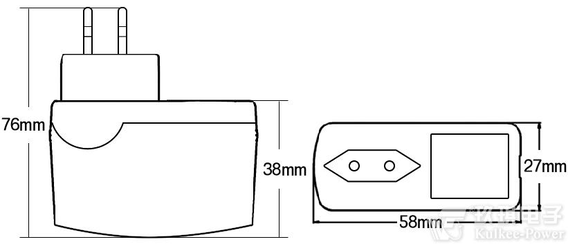 插墙式电源适配器及塑料外壳批量定货