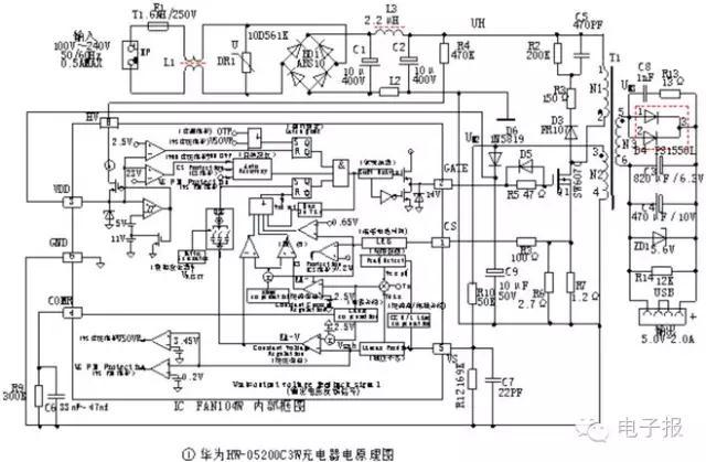 在现代家庭中手机、平板电脑、数码相机、播放机和电子血压计等电子产品,都配有电源适配器和手机充电器,两者外形规格相似,混放在一起极易用错,使用时务必认清其名称和额定电气参数。电源适配器(英文Adapter)把交流市电变换为用电设备所需的直流稳定电压,其间不存在电量的存储,可理解为直流稳压电源。而充电器(英文Charger)具有适配器功能外,内部还包括了恒流、恒压、涓流等满足电池充电特性的控制电路,一般可给电池直接充电,不必通过任何中介设备和装置。目前GSM手机通常包含充电功能,与手机配套的只需电源适配器。C