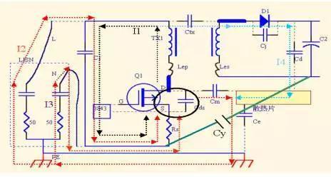 电源适配器的变压器屏蔽用铜箔?还是漆包线绕组?