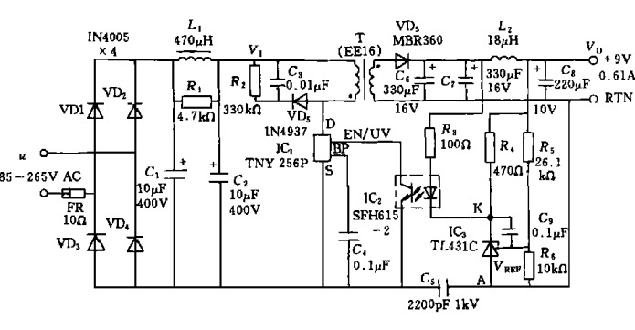 tny256的典型应用与设计要点